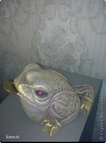 Скульптура Лепка: трехлапые денежные жабы феншуй  Краска, Тесто соленое. Фото 3