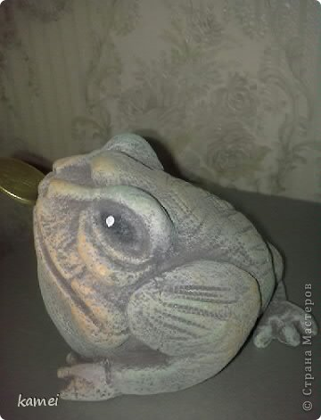 Скульптура Лепка: трехлапые денежные жабы феншуй  Краска, Тесто соленое. Фото 4