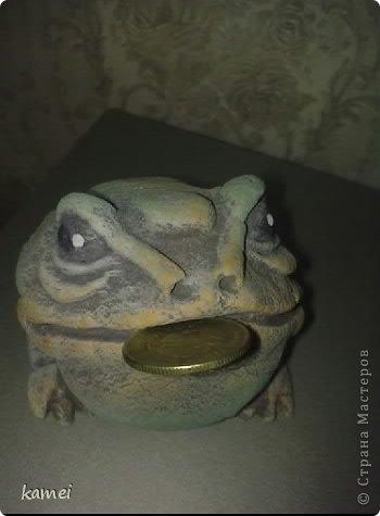 Скульптура Лепка: трехлапые денежные жабы феншуй  Краска, Тесто соленое. Фото 5