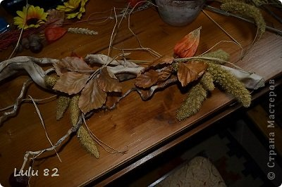 Флористика: Как можно украсить корягу + маленький МК. Материал природный, Свечи. Фото 4