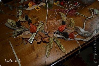 Флористика: Как можно украсить корягу + маленький МК. Материал природный, Свечи. Фото 5