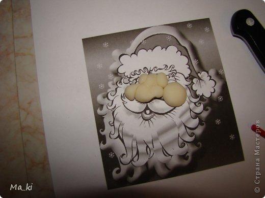 """Мастер-класс, Поделка, изделие Лепка, Роспись:  елочная игрушка """"дед мороз"""" Акварель, Вата, Тесто соленое Новый год, Отдых. Фото 11"""