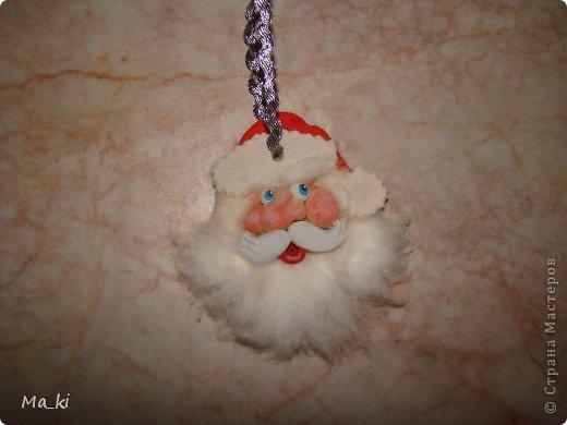 """Мастер-класс, Поделка, изделие Лепка, Роспись:  елочная игрушка """"дед мороз"""" Акварель, Вата, Тесто соленое Новый год, Отдых. Фото 1"""