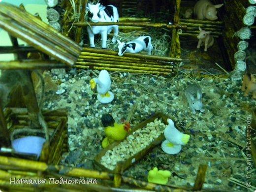 """Мастер-класс Макет: Макет. """"Сельский дворик"""" Бумага газетная, Клей, Коробки, Материал природный. Фото 11"""