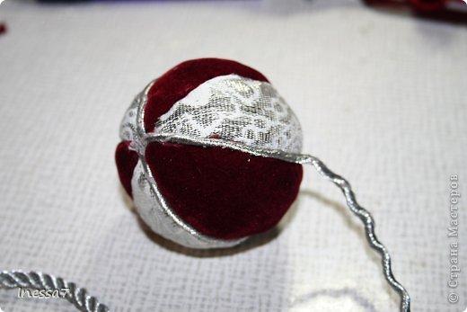 Декор предметов, Мастер-класс Пэчворк: елочные шарики МК Новый год. Фото 16