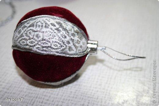 Декор предметов, Мастер-класс Пэчворк: елочные шарики МК Новый год. Фото 17
