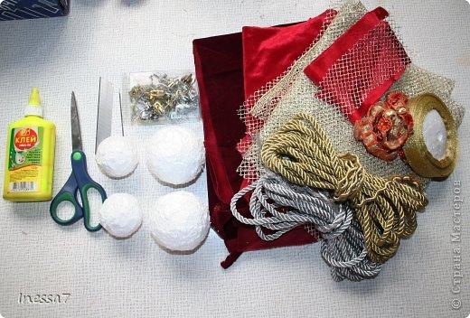 Декор предметов, Мастер-класс Пэчворк: елочные шарики МК Новый год. Фото 7