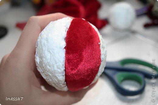 Декор предметов, Мастер-класс Пэчворк: елочные шарики МК Новый год. Фото 14