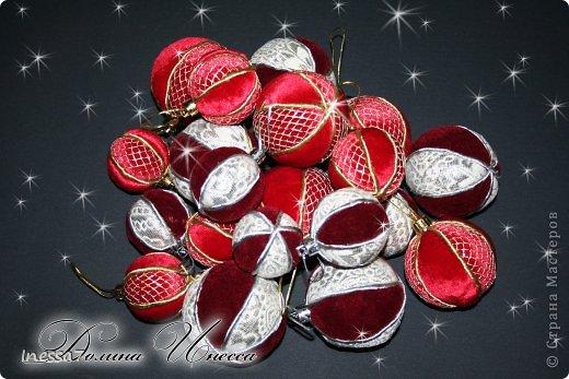 Декор предметов, Мастер-класс Пэчворк: елочные шарики МК Новый год. Фото 1