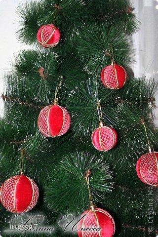 Декор предметов, Мастер-класс Пэчворк: елочные шарики МК Новый год. Фото 2