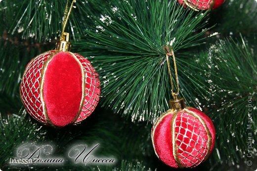 Декор предметов, Мастер-класс Пэчворк: елочные шарики МК Новый год. Фото 3