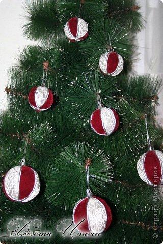 Декор предметов, Мастер-класс Пэчворк: елочные шарики МК Новый год. Фото 4
