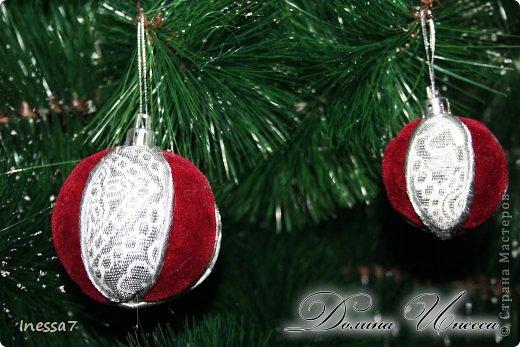 Декор предметов, Мастер-класс Пэчворк: елочные шарики МК Новый год. Фото 5
