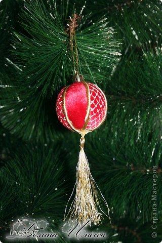 Декор предметов, Мастер-класс Пэчворк: елочные шарики МК Новый год. Фото 6