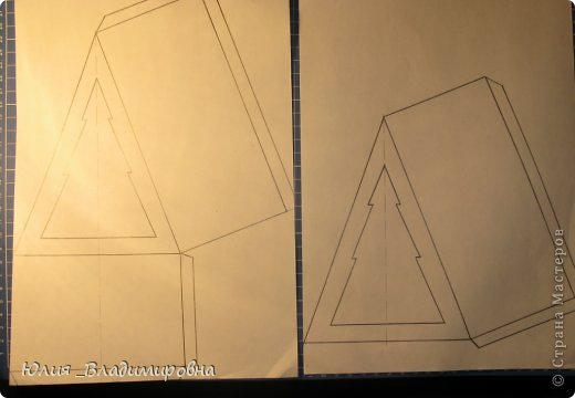 Мастер-класс, Поделка, изделие Бумажный туннель, Вырезание силуэтное: Туннель- ёлочка Бумага Новый год. Фото 4