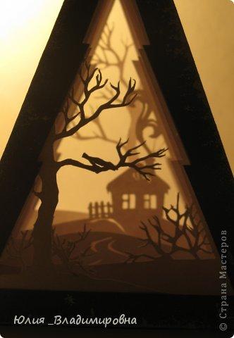 Мастер-класс, Поделка, изделие Бумажный туннель, Вырезание силуэтное: Туннель- ёлочка Бумага Новый год. Фото 1