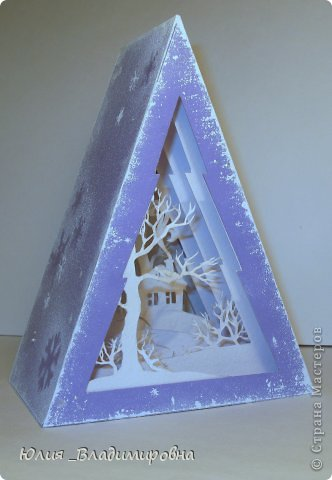 Мастер-класс, Поделка, изделие Бумажный туннель, Вырезание силуэтное: Туннель- ёлочка Бумага Новый год. Фото 13