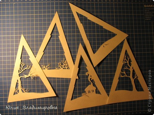 Мастер-класс, Поделка, изделие Бумажный туннель, Вырезание силуэтное: Туннель- ёлочка Бумага Новый год. Фото 8