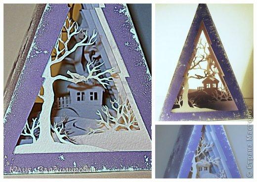 Мастер-класс, Поделка, изделие Бумажный туннель, Вырезание силуэтное: Туннель- ёлочка Бумага Новый год. Фото 12