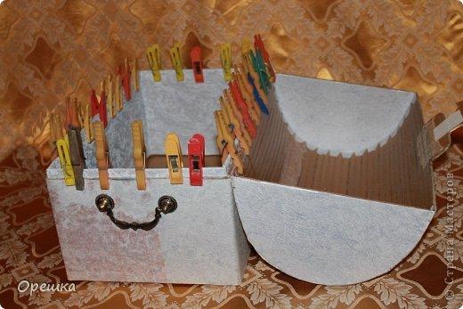 Поделка, изделие Аппликация из скрученных жгутиков: Пейп- арт сундук. Попытка первого МК. ))) Салфетки Отдых. Фото 9
