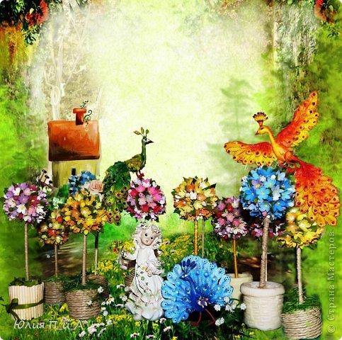 Мастер-класс, Поделка, изделие Лепка: В садике у феи (+ МК птички) Фарфор холодный. Фото 1