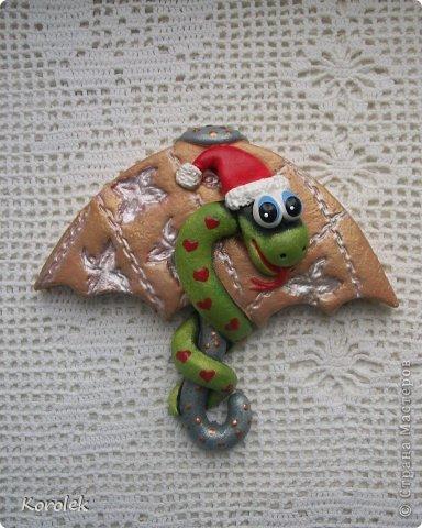 Мастер-класс, Поделка, изделие Лепка: Сувенирчики к новому году,змейки на зонтах. Тесто соленое Новый год. Фото 17