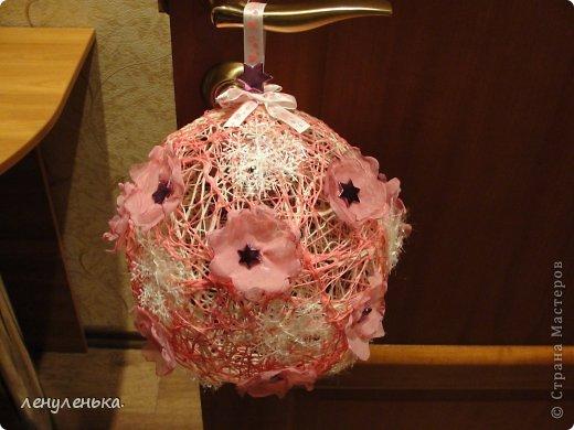 Декор предметов Плетение: мастер класс новогоднй игрушки Нитки Новый год. Фото 1