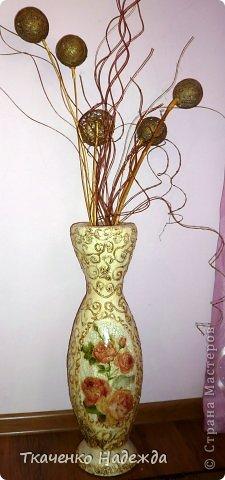 Напольная ваза оформление своими руками