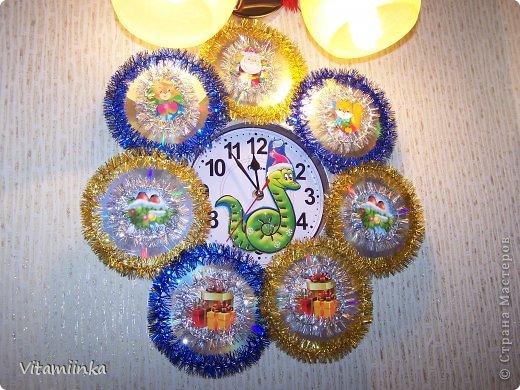 Новогодние часы Диски