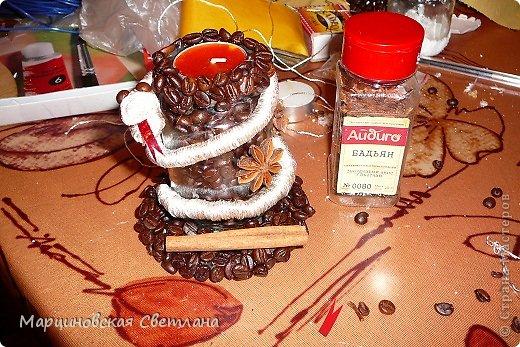 Мастер-класс Роспись: Кофейный подсвечник со змейкой.МК. Банки стеклянные, Клей, Кофе, Краска, Проволока, Пряжа, Свечи Новый год. Фото 15