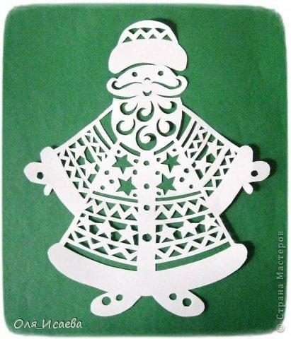 Поделка, изделие Вырезание, Вырезание силуэтное, Вытынанка:  Готовимся к Новому году. Дед Мороз. Бумага Новый год. Фото 1