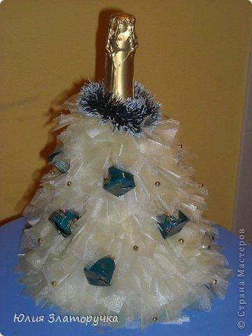 Декор предметов, Свит-дизайн Макет: новогодние елочки и как делать фунтики Бусинки, Клей, Ткань Новый год. Фото 4