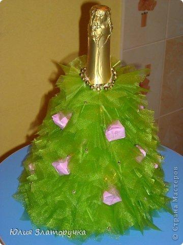 Декор предметов, Свит-дизайн Макет: новогодние елочки и как делать фунтики Бусинки, Клей, Ткань Новый год. Фото 3
