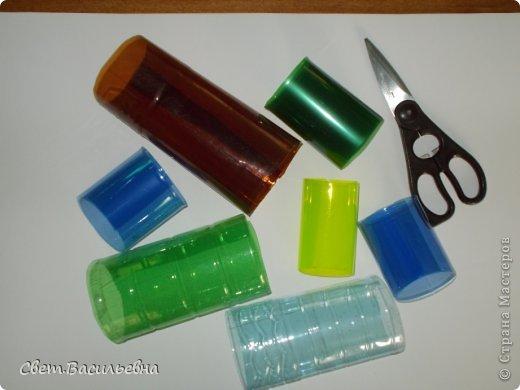 Мастер-класс Моделирование: Ёлочные цепи из пластика. Продолжаем украшать большую ёлку. Бутылки пластиковые Новый год. Фото 2