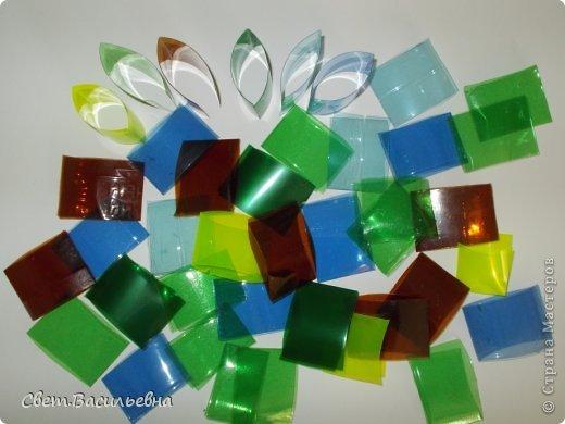 Мастер-класс Моделирование: Ёлочные цепи из пластика. Продолжаем украшать большую ёлку. Бутылки пластиковые Новый год. Фото 3