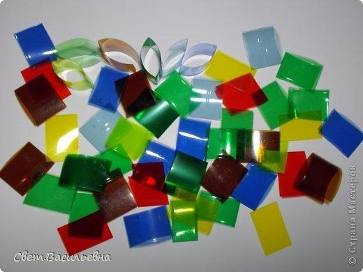Мастер-класс Моделирование: Ёлочные цепи из пластика. Продолжаем украшать большую ёлку. Бутылки пластиковые Новый год. Фото 4