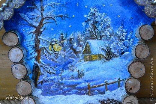 Декор предметов, Интерьер Декупаж, Коллаж: Ключницы, панно и колодец Материал природный Новый год. Фото 2