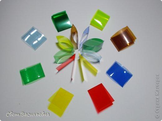 Мастер-класс Моделирование: Ёлочные цепи из пластика. Продолжаем украшать большую ёлку. Бутылки пластиковые Новый год. Фото 5