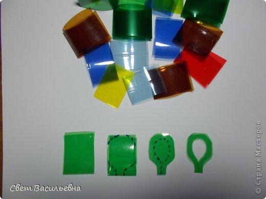 Мастер-класс Моделирование: Ёлочные цепи из пластика. Продолжаем украшать большую ёлку. Бутылки пластиковые Новый год. Фото 6