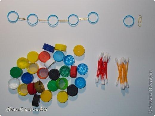 Мастер-класс Моделирование: Ёлочные цепи из пластика. Продолжаем украшать большую ёлку. Бутылки пластиковые Новый год. Фото 12