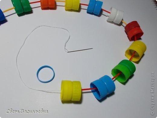 Мастер-класс Моделирование: Ёлочные цепи из пластика. Продолжаем украшать большую ёлку. Бутылки пластиковые Новый год. Фото 15