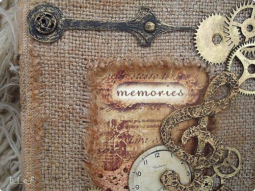 Поделка, изделие, Скрапбукинг: Винтажный мини-альбом Бумага. Фото 2