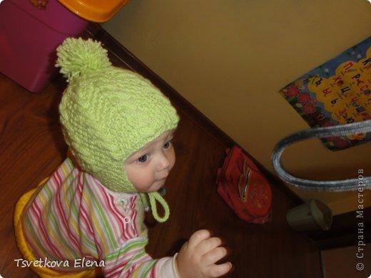 Мастер класс вязания детской шапочки с ушками спицами