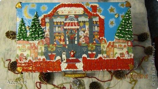 Декор предметов Декупаж: Домик для новогодних игрушек))) Салфетки Новый год. Фото 1