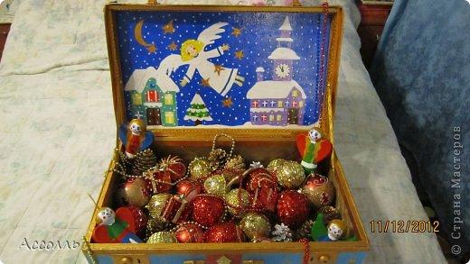 Декор предметов Декупаж: Домик для новогодних игрушек))) Салфетки Новый год. Фото 18