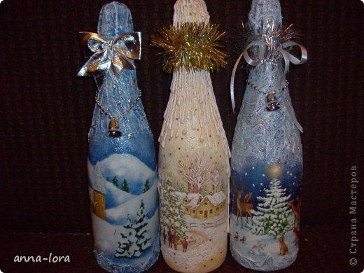 Декор предметов Декупаж: Подготовка к Новому году. Стекло Новый год. Фото 6