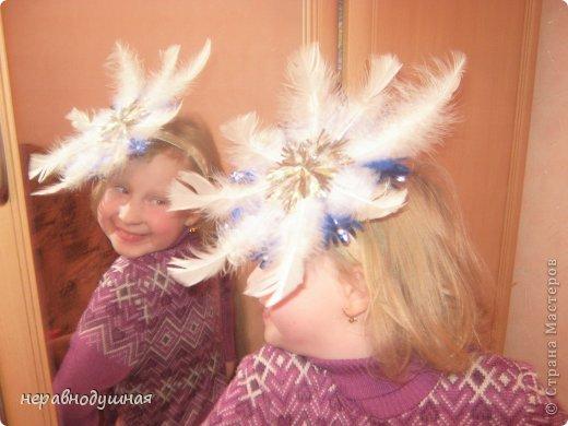 Головной убор снежинки своими руками фото