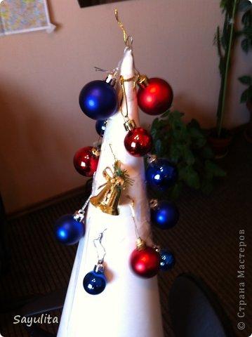 Мастер-класс: Елка большая высота 1м+ маленький маленький МК Новый год. Фото 4