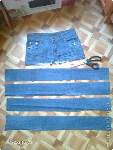 Мастер-класс Шитьё: Вторая жизнь старых джинс.. Фото 3