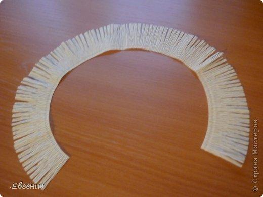 Мастер-класс Бумагопластика: Мой первый МК-Хризантемы  Бумага гофрированная. Фото 16